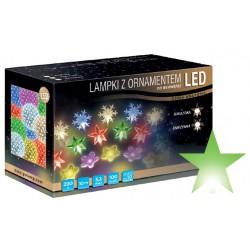 LED osvětlení vnitřní - hvězda, zelená, 10 m