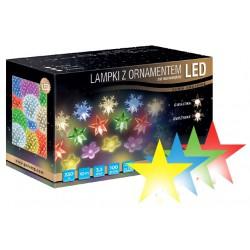 LED osvětlení vnitřní - hvězda, multicolor, 10 m