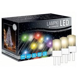 LED osvětlení univerzální - klasická, tep. bílá, 10 m, bílý kabel