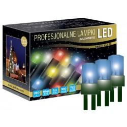 LED osvětlení venkovní - klasická, modrá, 10 m