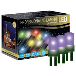 LED osvětlení venkovní - klasická, fialová, 10 m