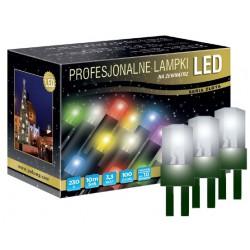 LED osvětlení venkovní - klasická, st. bílá, 10 m