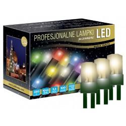 LED osvětlení venkovní - klasická, tep. bílá, 10 m