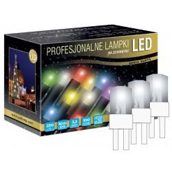 LED osvětlení venkovní - klasická, st. bílá, 10 m, bílý kabel