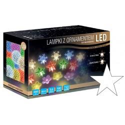 LED osvětlení vnitřní - hvězda, st. bílá, 10 m