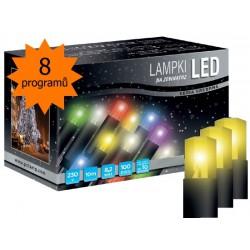 LED osvětlení univerzální - klasická, žlutá, 10 m, programátor