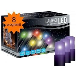 LED osvětlení univerzální - klasická, fialová 10 m, programátor