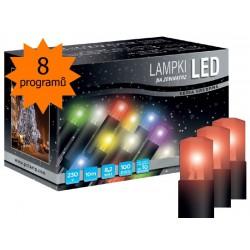 LED osvětlení univerzální - klasická, červená 10 m, programátor