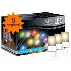 LED osvětlení univerzální - klasická, tep. bílá 10 m, bílý kabel, programátor