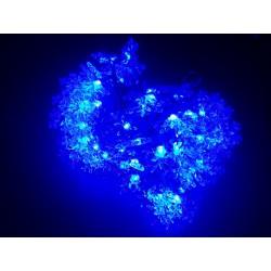 LED osvětlení vnitřní - vločka, modrá, 10 m