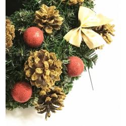 Vánoční dekorace - Věnec zlatý