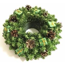 Vánoční dekorace - Věnec zelený