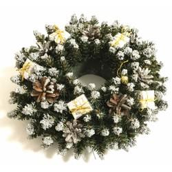 Vánoční dekorace - Věnec stříbrný