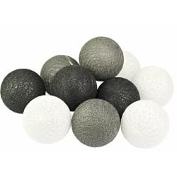 LED osvětlení vnitřní - bavlna, odstíny šedé, 2 m