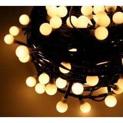 LED osvětlení vnitřní - koule tep. bílá, 7 m