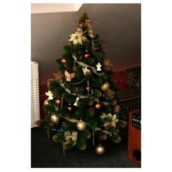 Umělý vánoční stromek - Borovice zlatá 220 cm
