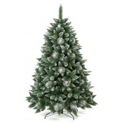 Umělá vánoční borovice s šiškami - stříbrná 120 cm