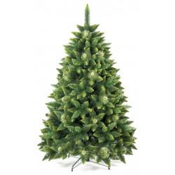 Umělá vánoční borovice s šiškami - zelená 250 cm